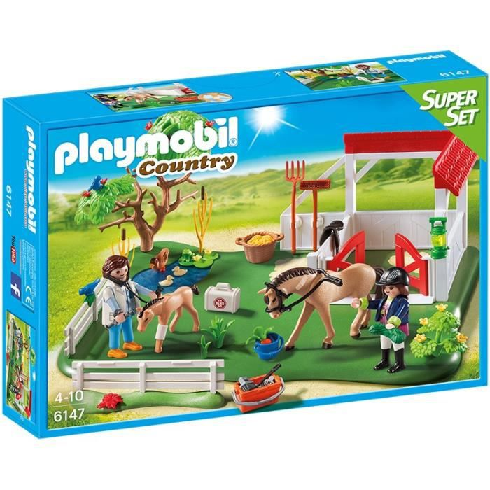 playmobil country le haras achat vente playmobil. Black Bedroom Furniture Sets. Home Design Ideas