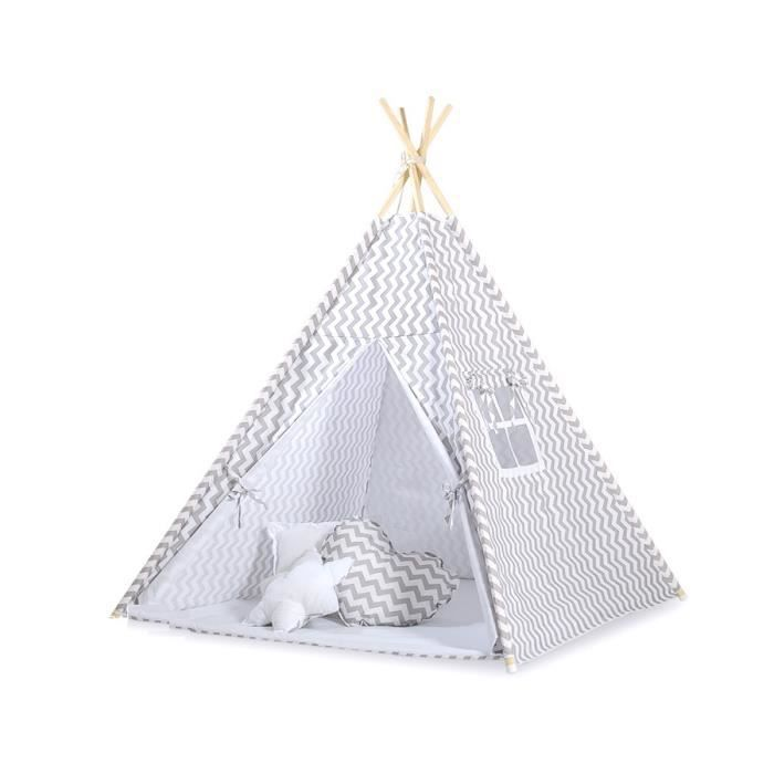 tipi teepee pour enfant avec textile zigzag gr achat. Black Bedroom Furniture Sets. Home Design Ideas