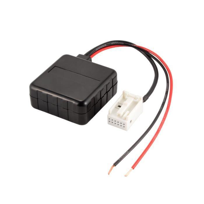 XCSOURCE Module Bluetooth Radio Stéréo Aux Câble Adaptateur avec Filtre Sans Fil Entrée Audio pour Voiture BMW E60 03-10 E63 E64