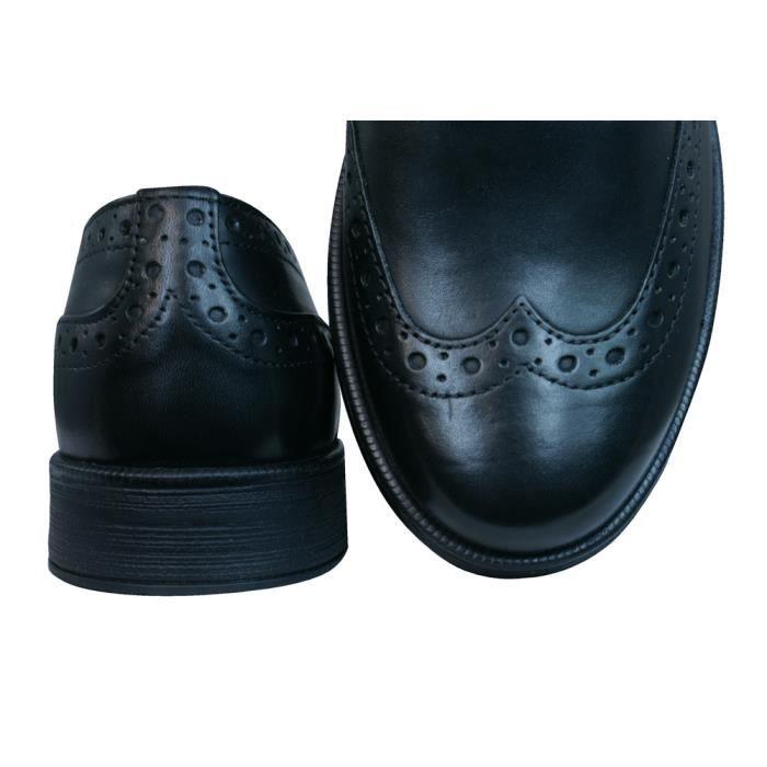 Geox J Agata C Garçons cuir Derbies - Chaussures Noir jYSKSilnDv