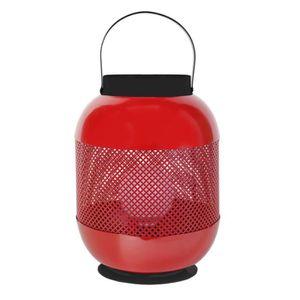LAMPE A POSER CASABLANCA   Lampe photophore métal, hauteur 45 cm