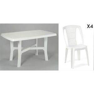 Chaises jardin plastique blanc - Achat / Vente Chaises jardin ...