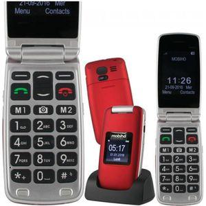 Téléphone portable LE CLAP LUXE 3 rouge, beau design, téléphone senio