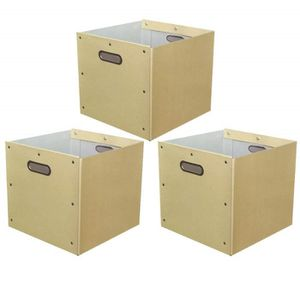 BOITE DE RANGEMENT Malip ® Lot de 3 - Cube/Tiroir de Rangement en Cra