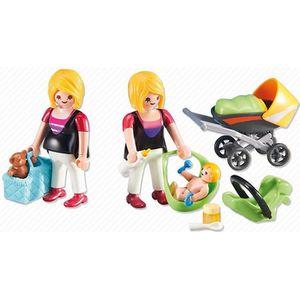 FIGURINE - PERSONNAGE Playmobil 6447 - Femme Enceinte Avec Maman Et Bébé