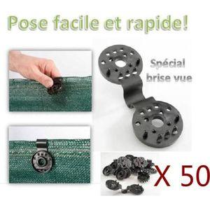 GOULOTTE - CACHE FIL Clips de fixation pour brise vue - Lot de 50 pcs