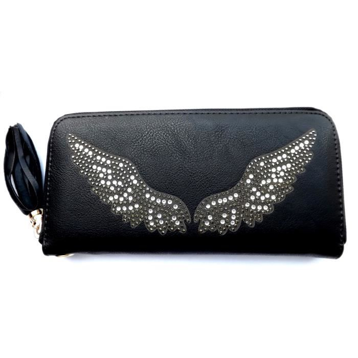 bf93e046f6 Portefeuille porte monnaie femme ailes strass ange - Achat / Vente ...