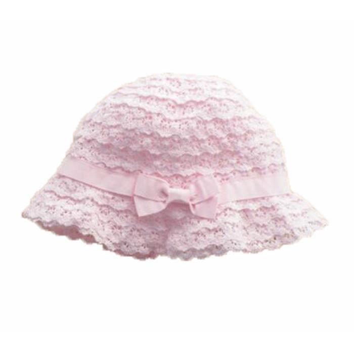 6d4e514f9ecbd été bébé Fille Casquettes Coton Chapeau de soleil 2-3 ans Bébé Rose Dentelle
