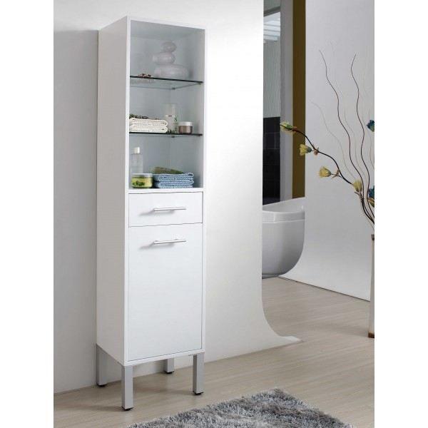 Colonne de salle de bain sur pieds laqu blanc achat for Colonne de salle de bain vima