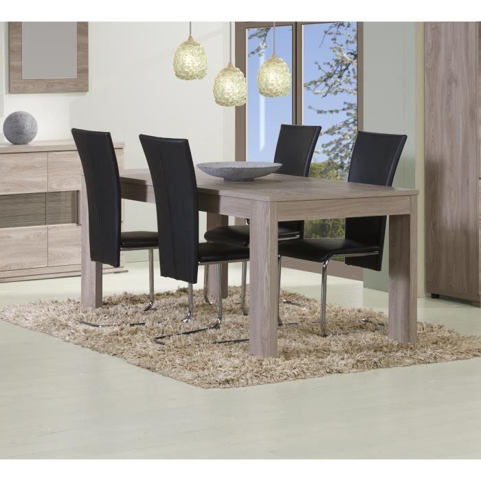 Table de salle à manger contemporaine coloris Memphis oak ...