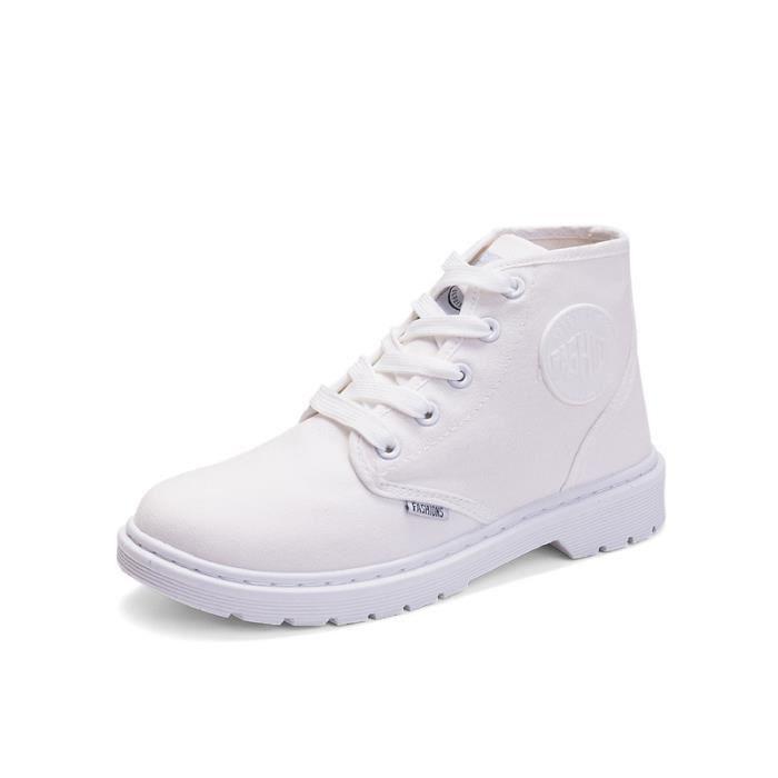 Bottes de dames chaussures de toile respirantes haute chaussures de dames Bottes de Martin sJVhH