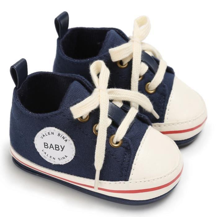 BOTTE Toddler Fille Garçons Crèche Nouveau-Né Semelle Souple Anti-slip Bébé Toile Chaussures Sneakers@Jeunesse tibétaineHM