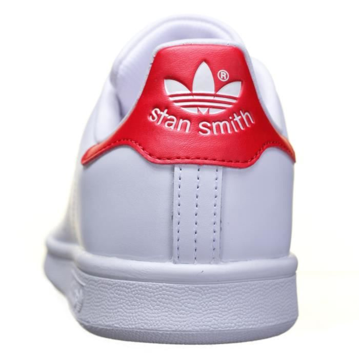 Chaussure Adidas Stan Smith M20326 Blanc/Rouge