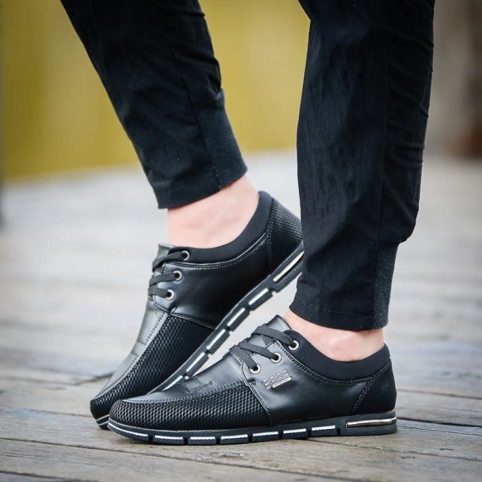 Nouveau Mode Hommes Mocassins d'été Chaussures pour hommes Les Appartements confortables Respirant Chaussures Mesh Casual 3D1rXn
