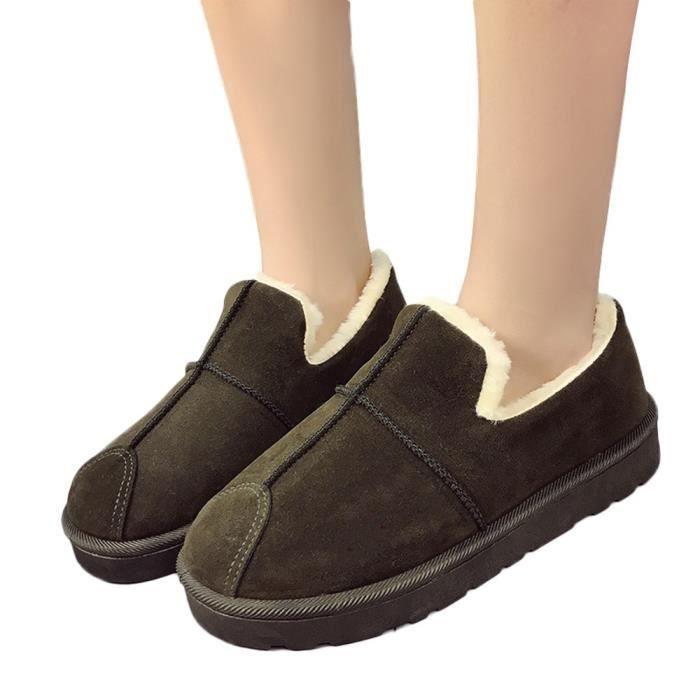 Chaud Dans Vert Pain Étudiants Hiver Welvet Bottes Chaussures De Neige Femme BIxq6AwZ0x