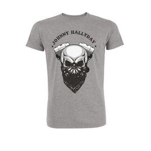 T-SHIRT T-Shirt Biker Johnny Hallyday - Homme - Gris