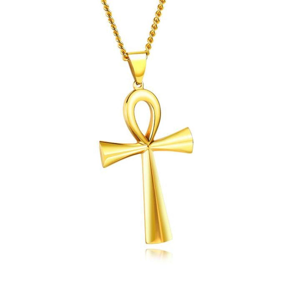 Ankh Égyptienne Croix Per Femme Inoxydable Pendentif Collier Amour Acier kXZiuOTwP