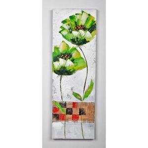 TABLEAU - TOILE Tableau déco Fleurs  74 -  Toile peinte à la main