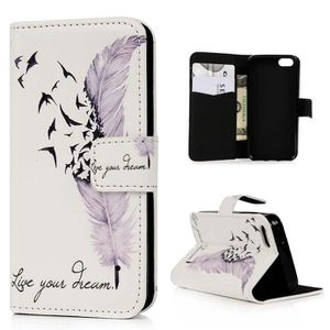 coque iphone 5 portefeuille plume