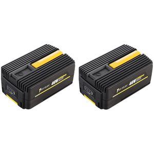 PIÈCE OUTIL DE JARDIN Pack 2 batteries GT ELEC 40 Volts : 2 x capacité 2