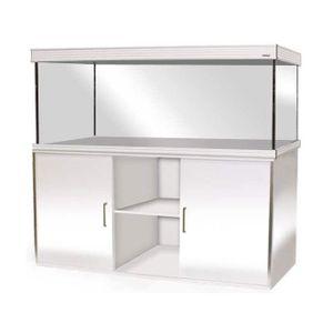 AQUARIUM Aquarium T5 Wave Design 150 en verre blanc brillan