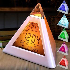 SIMULATEUR D'AUBE réveil horloge thermomètre numérique couleur chang