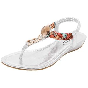 SANDALE - NU-PIEDS EOZY Sandales Bohème Femme Chaussures Plate Plage