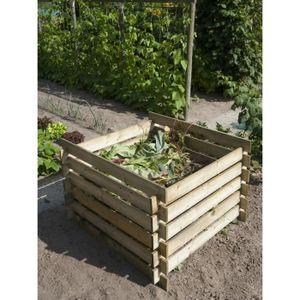 COMPOSTEUR - ACCESSOIRE Silo à compost en pin - H70x100x100cm