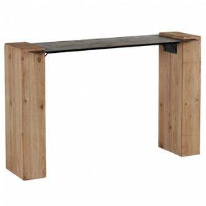 console bois metal achat vente console bois metal pas cher soldes d s le 10 janvier cdiscount. Black Bedroom Furniture Sets. Home Design Ideas
