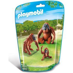UNIVERS MINIATURE PLAYMOBIL 6648 - Le Zoo - Deux Orangs-Outangs avec