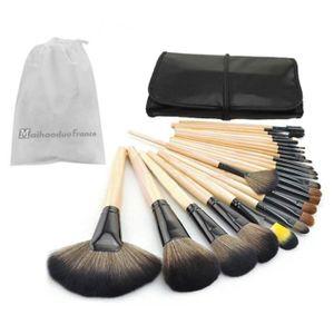 PINCEAUX DE MAQUILLAGE 24pcs Set de Pinceaux à Maquillage Make Up Tool Se