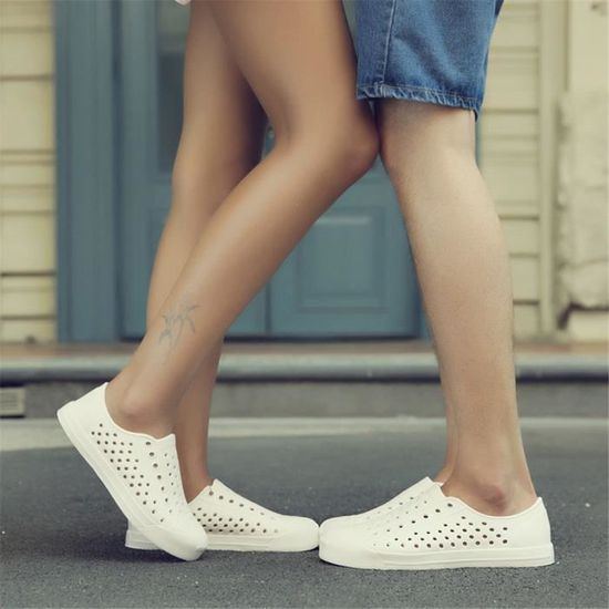 Sandale homme chaussures Slip-on Extravagant Grande Taille Confortable Antidérapant Sneakers Loisirs1 LZP Blanc Blanc - Achat / Vente slip-on