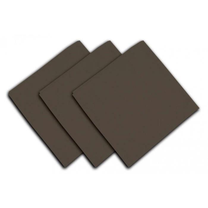 SOLEIL D'OCRE Lot de 3 serviettes de table Panama - 45x45 cm - Beige taupe