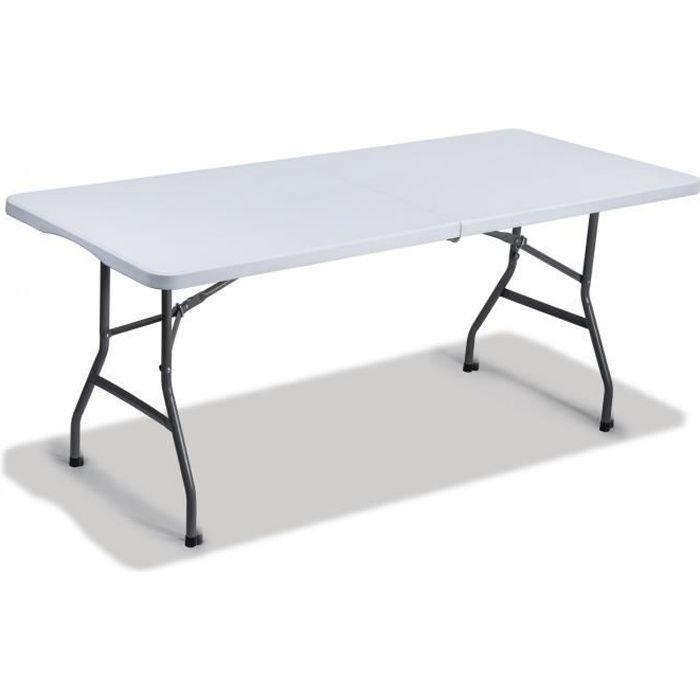TABLE JARDIN PLIABLE, Salon Mobilier Extérieur Meuble Pliante ...