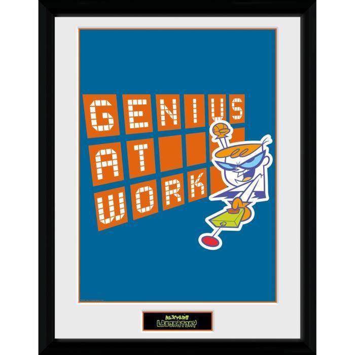 Photographie encadrée Dexter's Laboratory Genius At Work 30 x 40 cm