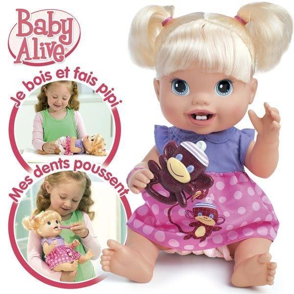 POUPON Baby Alive Bébé Quenottes craquant avec 2 dents