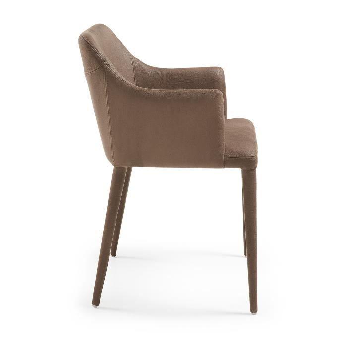 Chaise Avec Accoudoirs Croft Marron