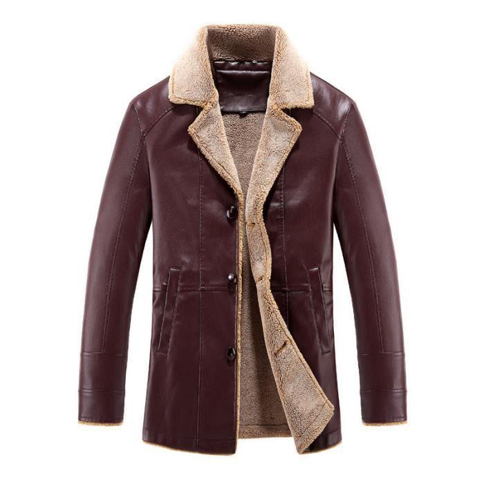 veste cuir rouge homme achat vente veste cuir rouge homme pas cher soldes d s le 10. Black Bedroom Furniture Sets. Home Design Ideas