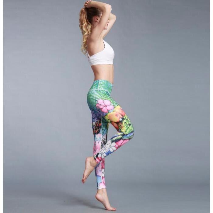 PANTALON DE SPORT Legging Skinny Pantalon yoga Slim Mince Imprimé Se aaaf210c3de