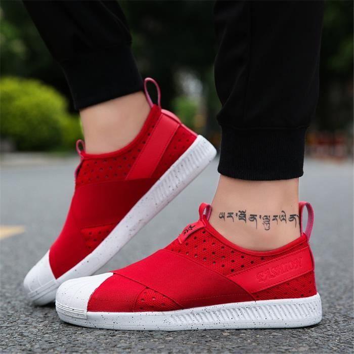Chaussures Fashion Nouvelle Luxe De rouge Loafer Marque Sandale noir Homme Couleur Sneakers Plus Arrivee Gris Antidérapant Cnqv5vw7x