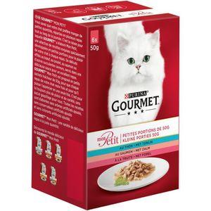 GOURMET Mon Petit repas pour chat adulte viande 6 x 50 g