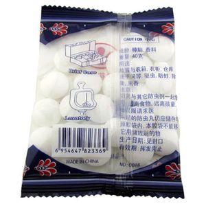 PRODUIT INSECTICIDE 7 packs Boules De Naphtaline blanc camphre pilule