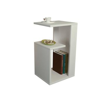 TABLE D'APPOINT Sister Table d'appoint MDF laqué blanche 35x30x60c