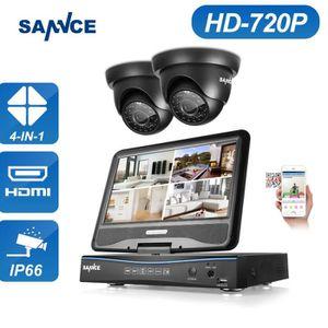CAMÉRA DE SURVEILLANCE SANNCE Kit vidéosurveillance avec écran 10.1pouce