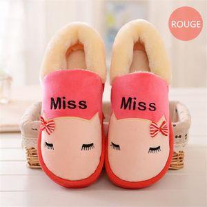 dessin animé chausson mignonne femme cartoon chaussons femmes tendance Chaud Velours et chaussures Confortable pantoufles Hiver EZnrpD