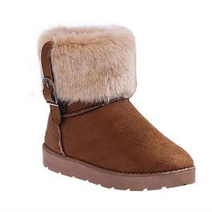 BOTTINE Femme Nouvelle Mode Hiver Neige Cheville Boots Cha
