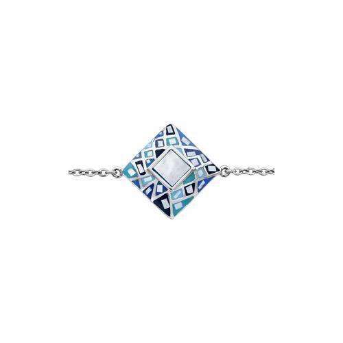 Bracelet acier carré stella mia dégradé bleu et na
