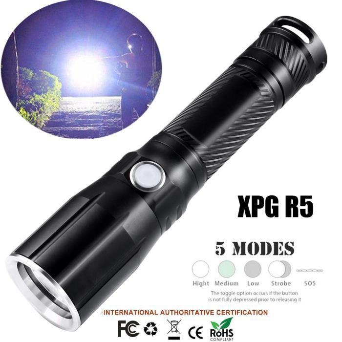 poche Super lampe lampe 2127 torche R5 extérieur de 5 étanche Modes LED 18650 lighitng Bright XPG fY7gyb6