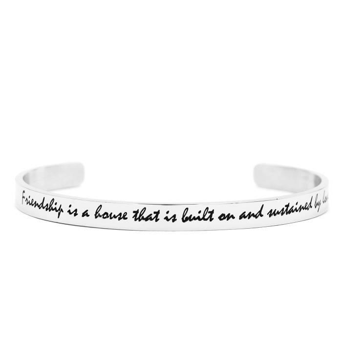 Bracelet manchette de femmes pour ami Meilleur Amitié Bangle Bijoux Cadeaux Bijoux en acier inoxydable OKSNE 4vDJG