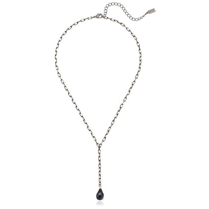 1928 Jewelry Or ton mixte et chaîne noire Teardrop en forme de Y Collier, 16,5 Extender + 3 EVNX4